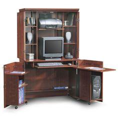 sauder computer armoire furniture walmartcom mini officesmall homecloset spacesdesk ideasoffice