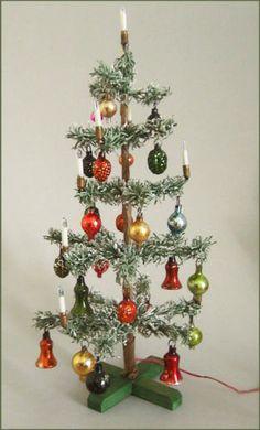 vintage miniature German Christmas tree