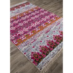 Shop for Jaipur Rugs Jaipur Hand-Knotted Moroccan Pattern Pink/Blue Viscose (6.2x9.6) Area Rug, RUG124558, and other Floor Coverings Rugs at Hickory Furniture Mart in Hickory, NC. Beautiful and bold, the hand knotted rugs in the Belmar collection come alive with brilliant color.