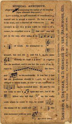 **FREE ViNTaGE DiGiTaL STaMPS**: Vintage Printable - Music Ephemera vintage aged ephemera
