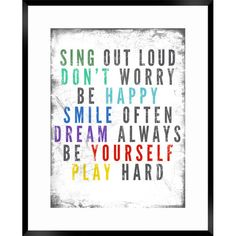 Sing Out Loud Framed Print