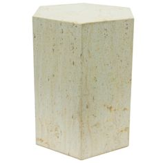 Pace Collection Travertine Hexagonal Pedestal or Side Table   From a unique collection of antique and modern side tables at https://www.1stdibs.com/furniture/tables/side-tables/