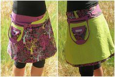 sticKUHlinchen: Wendewickelrock mit mini Tutorial für einen effektvollen Saumabschluss! Ein toller Hingucker für Röcke!