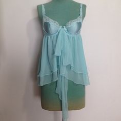 VS BabyDoll Lingerie Nighty Slip Super cute and sweet light blue colored babydoll lingerie from Victorias Secret. Bought the wrong size so I never ended up wearing it. In excellent condition. Adjustable straps. Victoria's Secret Intimates & Sleepwear Chemises & Slips