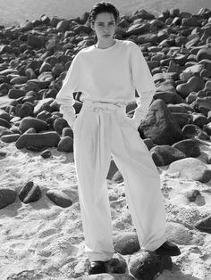 COS SPRING 2021 AD CAMPAIGN #COS #COSstores Cos Stores, Edie Campbell, Top To Toe, White Fashion, Organic Cotton, Dress Up, Women Wear, Trousers, Jumpsuit