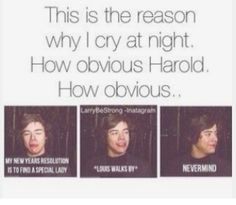 I know right why Harold why