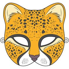 Cheetah Mask Template - Free Printable Papercraft Templates with regard to Cheetah Mask Template. Animal Mask Templates, Printable Animal Masks, Animal Masks For Kids, Mask For Kids, Cheetah Crafts, African Savanna Animals, How To Do Origami, My Little Pony Unicorn, Paper Mask