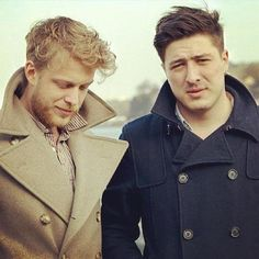 Marcus Mumford and Ted Dwane from Mumford & Sons