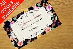 Place card template printable party or by WeddingTemplatesHub