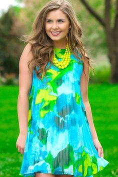 BB Dakota: Aim To Pleats Dress-Sea Blue