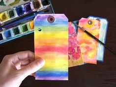 rainbow journal tag