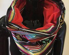 snood foulard infinity tube velours et wax #12-1 - Modifier une fiche produit - Etsy