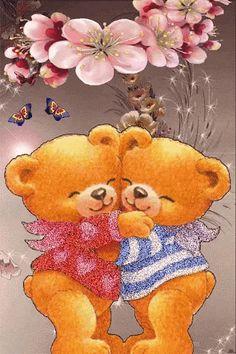 The perfect LoveYou Hug Bear Animated GIF for your conversation. Hugs And Kisses Quotes, Hug Quotes, Teddy Bear Hug, Cute Teddy Bears, Bear Hugs, Love You Gif, Cute Love Gif, Bear Images, Love Images