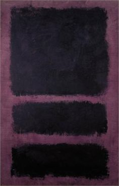 Mark Rothko:  I don't know why I never appreciated Rothko before. Now his paintings just stun me.