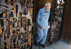 Sculptor Pomeroy has created monumental steel works for 50 years