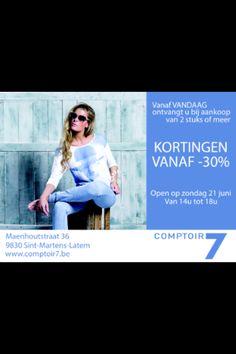 #comptoir7 #latem #gent #sales #korting #dameskleding #fashion #fashionblogger #summer #zomercollectie #spring #ellenpetri