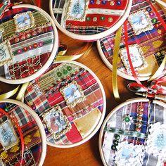 Hand Made Christmas Decoration - Hanging Hoop 04, Paradis Terrestre - Luxury British Made Accessories & Homeware