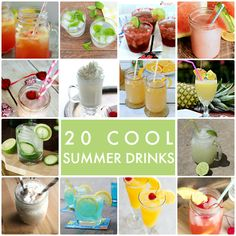 20 Cool Summer Drinks! The perfect list for cooling off this summer -- Tatertots and Jello