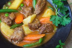 Lamb Stew with Spring Vegetables - Panning The Globe Lamb Recipes, Soup Recipes, Dinner Recipes, Dinner Ideas, Recipies, Good Healthy Recipes, Real Food Recipes, Irish Lamb Stew, Food Dishes