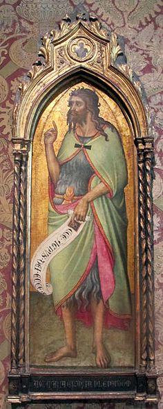 Luca di Tommè - San Giovanni, il Battista - 1370-80 ca. - Museo Bardini, Firenze