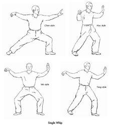tai chi single whip styles