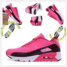 new product dec22 8f707 Montante   Nike Chaussure Sport Air Max 90 2016 Femme Nouveau  High-Frequency Rose Marron