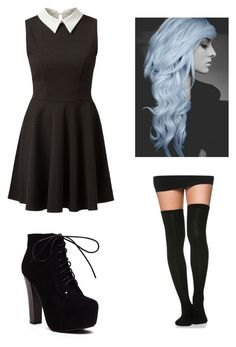 """""""Nu Goth <3"""" by pipertehcat ❤ liked on Polyvore"""