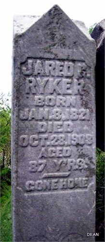 Jared G Ryker, Ryker's Ridge Cemetery, Jefferson Co IN