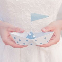 White & Blue Wedding
