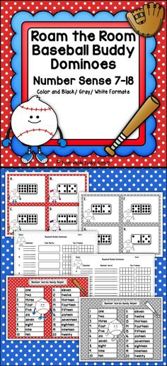 This is a roam the room number sense activity incorporating domino patterns, counting, writing numerals, writing number words, and representing a given quantity with tally marks and on ten frames in an engaging format. $ K-1