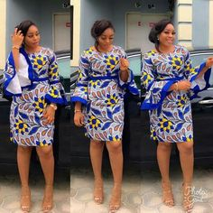 The complete pictures of latest ankara short gown styles of 2018 you've been searching for. These short ankara gown styles of 2018 are beautiful Latest African Fashion Dresses, African Print Dresses, African Print Fashion, African Dress, Ankara Fashion, Africa Fashion, African Prints, Unique Ankara Styles, Ankara Gown Styles