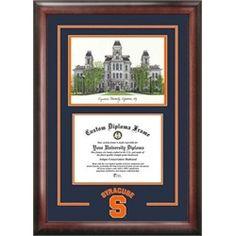 Syracuse University Orangemen Alumni Mahogany Diploma Frame
