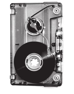 Funky cassette turntable.