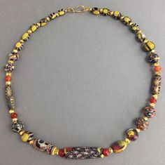 roman mosaic glass bead necklace an ancient roman necklace comprised ...
