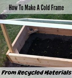 How To Make Cold Frames From Recycled Materials   http://homestead-and-survival.com/make-cold-frames-recycled-materials/   Cold frames are an innovative way to extend the growing season of a garden and get fresh food year round.
