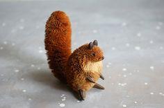 Bristle Squirrel Figure, $22