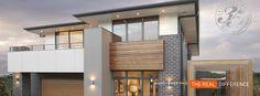 Rawson- white cladding, dark aluminium windows, timber venetians