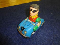 "Marx TIN Litho Friction CAR Batmobile Robin 4"" Rare 