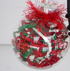 Red and Green Ball Ornament