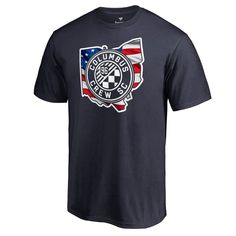 Men's Fanatics Branded Navy Columbus Crew SC Banner State Big and Tall T-Shirt Big And Tall T Shirts, Columbus Crew, T Shirt World, T Shirt And Shorts, Direct To Garment Printer, New Outfits, Shirt Style, Mens Tops, Banner