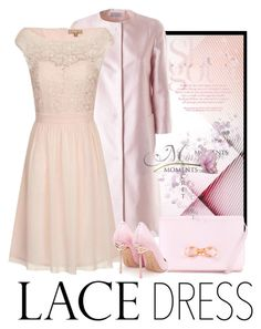 """Pretty Lace Dress"" by erina-i ❤ liked on Polyvore featuring Alberto Biani, Dorothy Perkins, Ted Baker and Sophia Webster"