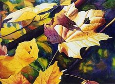 """October Light  Watercolor on Paper  22"""" x 30"""""""