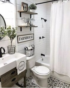 Farmhouse bathroom decor - Small bathroom decor - Small bathroom remodel - Rustic bathrooms - B - Farmhouse bathroom decor, Small bathroom decor, Small bathroom remodel, Rustic bathrooms, Bathroom - Gorgeous Bathroom, Bathroom Countertops, Bathroom Decor, Small Bathroom Remodel, Farmhouse Bathroom Decor, Guest Room Essentials, Bathrooms Remodel, Bathroom Makeover, Bathroom Design Small