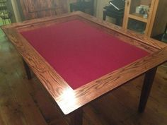 This is the nicest DIY Board game table I've seen but I wish it had cup holders. This guy gives Sketch Up Plans and pdf plans