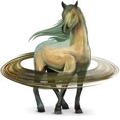 Saturn, Solar System horse.