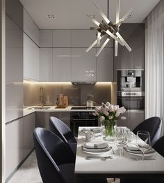 Regardless of whether you're planning for a move to another house or you essentially need to a kitchen redesign, these astounding kitchen Minimalist But Luxurious Kitchen Design thoughts will prove to be useful. Kitchen Room Design, Modern Kitchen Design, Interior Design Kitchen, Kitchen Decor, Kitchen Layout, Luxury Kitchens, Home Kitchens, Inspire Me Home Decor, Cuisines Design