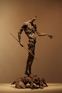"artmonia: "" Sculptures by Iranian Artist Soheyl Bastami. Human Sculpture, Metal Art Sculpture, Contemporary Sculpture, Abstract Sculpture, Contemporary Art, Sculpture Ideas, Bronze Sculpture, Junk Art, Love Art"