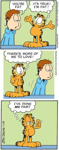 Garfield on being fat...