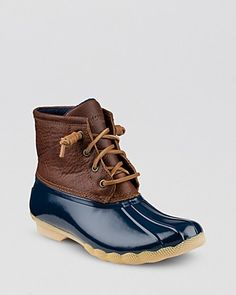 Sperry Top-Sider Waterproof Cold Weather Lace Up Boots - Saltwater