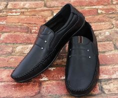 New Mens Gents Slip Soft Synthetic Leather Casual/Formal Shoes- Wholesale Joblot